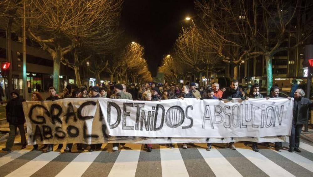 Los vecinos de Gamonal piden la absolución de los detenidos