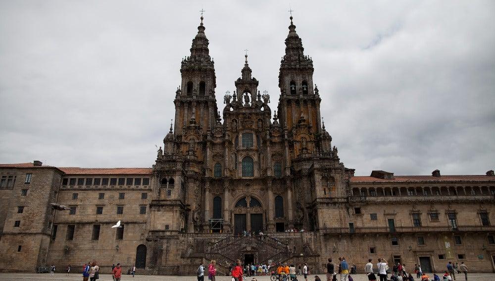 La estampa más conocida de la catedral de Santiago de Compostela