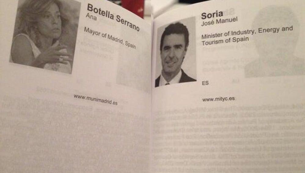 Los CV de Botella y Soria, en blanco