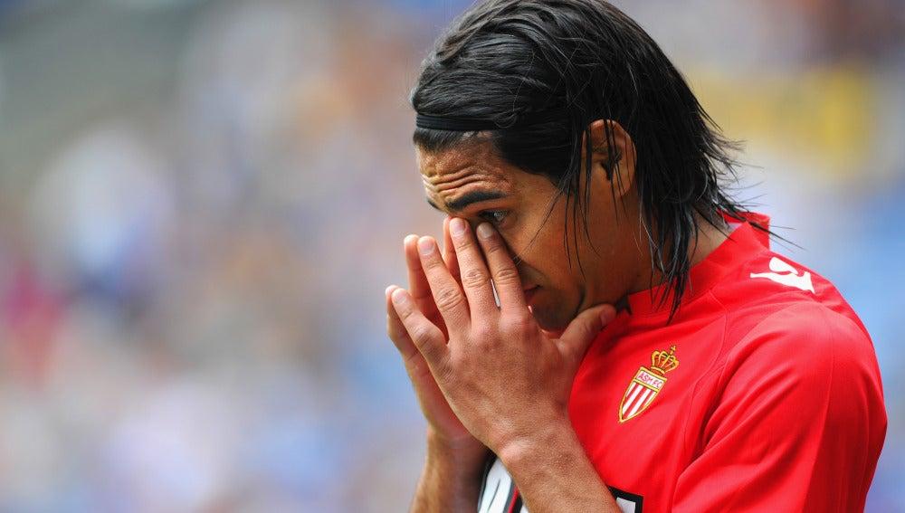 Radamel Falcao, durante un partido con el Mónaco
