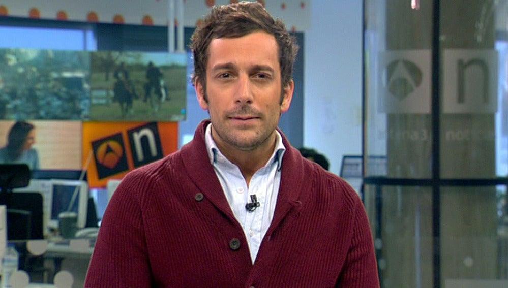 El director de Noticias Fin de Semana, Álvaro Zancajo