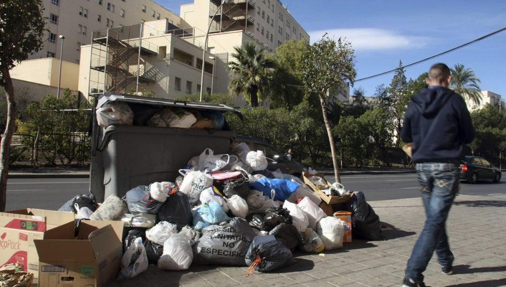 Residuos acumulados en Alicante