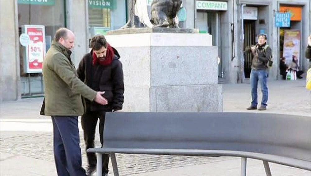 El banco instalado en la Puerta del Sol