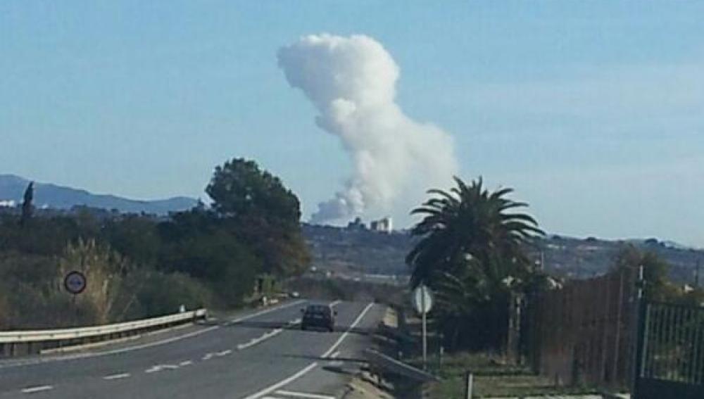 Incendio en una pirotecnia en Cataluña
