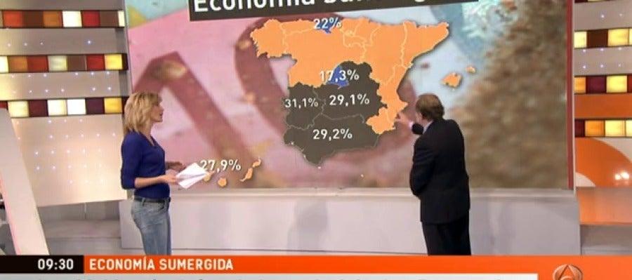 Antena 3 tv la econom a sumergida en nuestro pa s es del for Ver espejo publico hoy