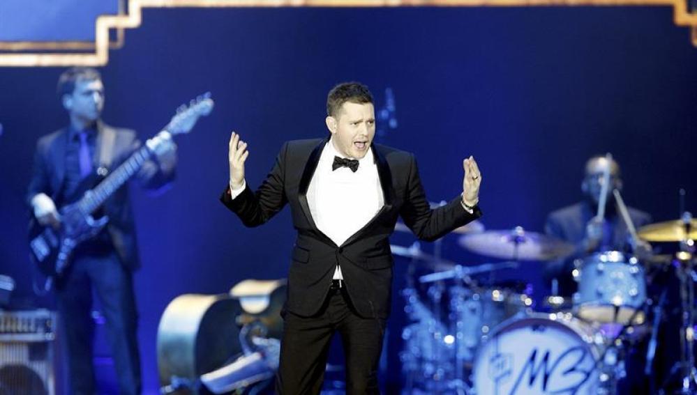 Michael Bublé durante el concierto