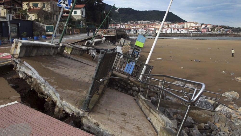 Destrozos en el País Vasco