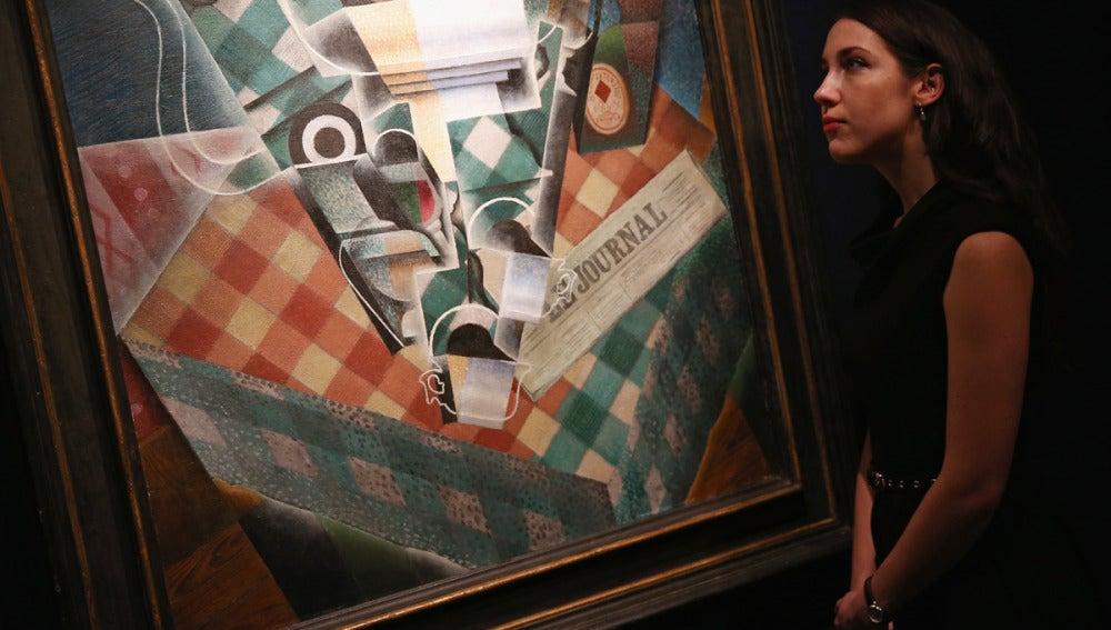 El óleo 'Nature morte à la nappe à correaux' de Juan Gris, en la casa de subastas Christie's