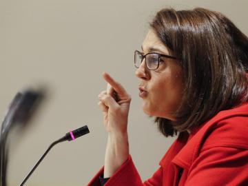 La portavoz parlamentaria del PSOE, Soraya Rodríguez, en el Congreso de los Diputados.