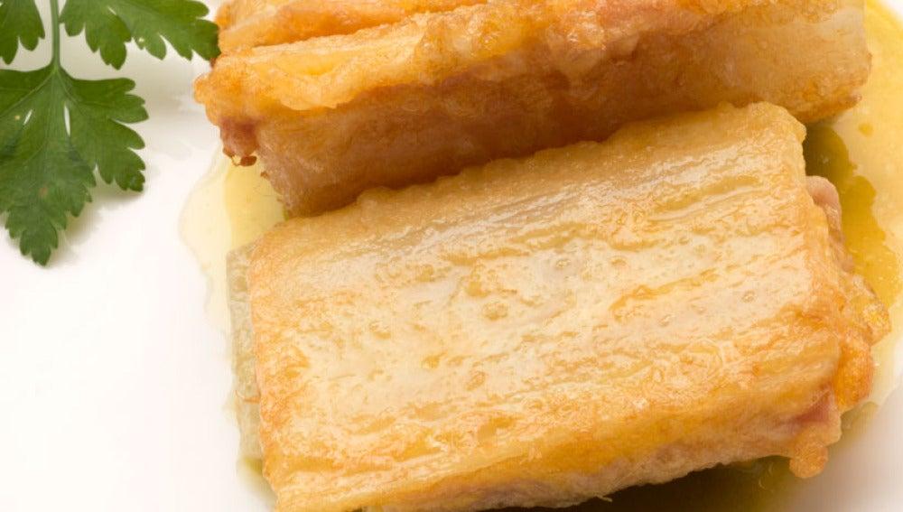 Pencas rellenas de pavo y queso