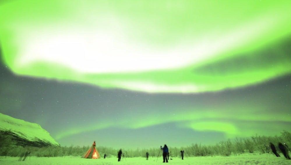 Las auroras sobre Suecia