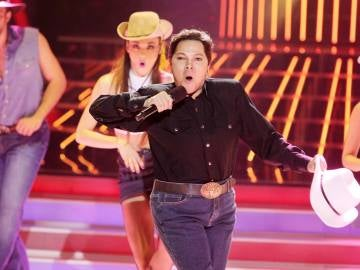 Ángela Carrasco imita a Coyote Dax en Tu cara me suena