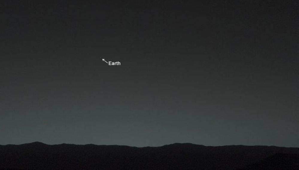 Así ve la Tierra el Curiosity desde la superficie de Marte