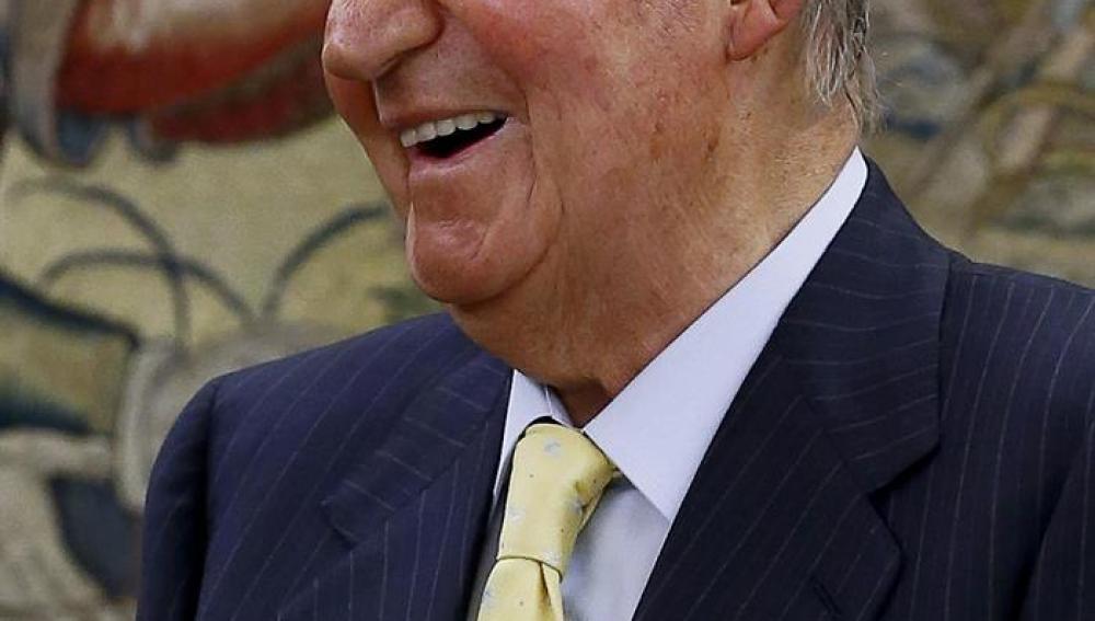 El Rey Juan Carlos durante la audiencia