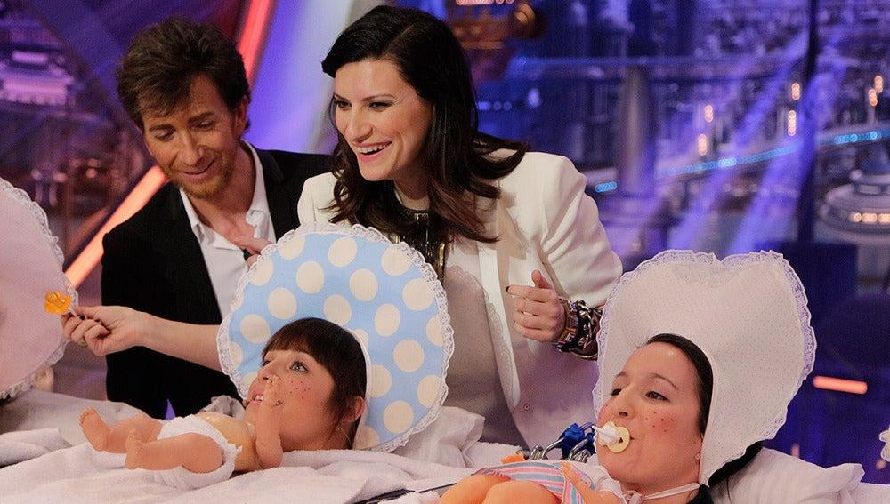 Laura Pausini y los bebés en El Hormiguero 3.0