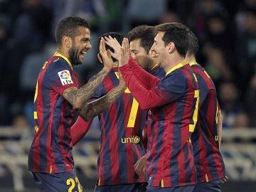 Messi celebra su gol