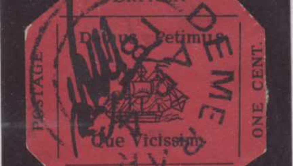 El sello, conocido como 'Magenta de un penique de Guayana Británica', será subastado el 17 de junio.