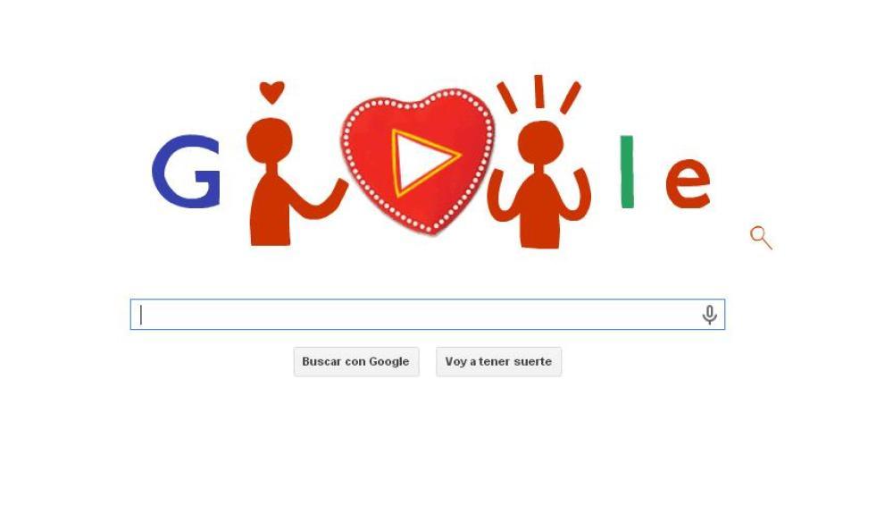 Doodle de Google dedicado al Día de los Enamorados