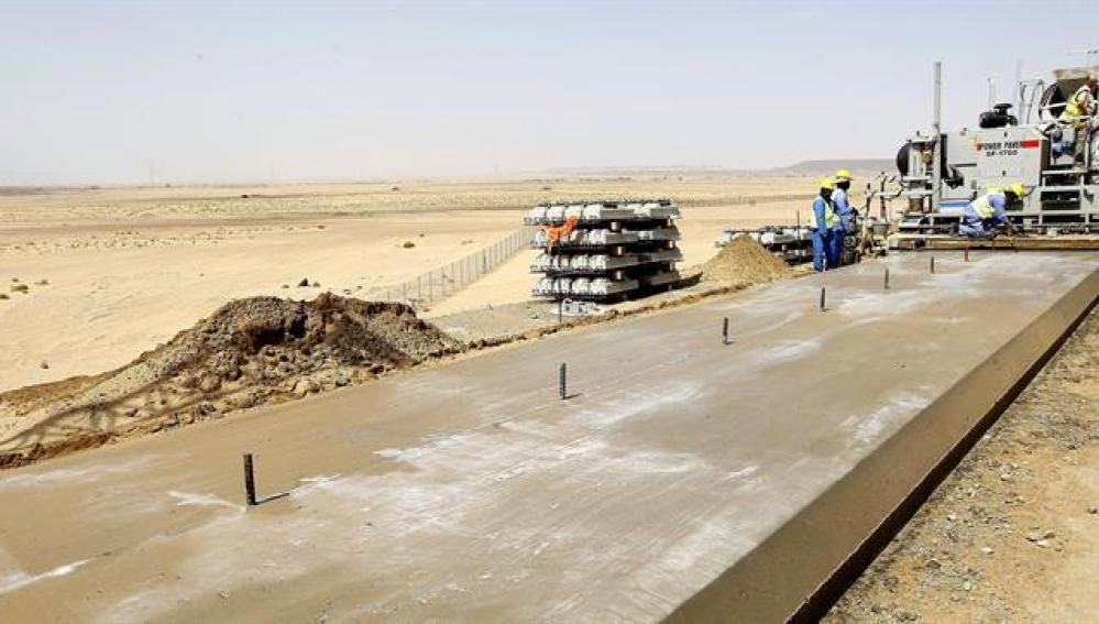 Vista de las obras del proyecto del tren de alta velocidadVista de las obras del proyecto del tren de alta velocidad