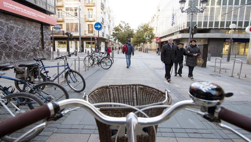 Montar en bici en ciudad