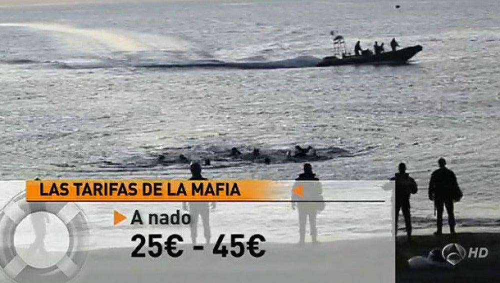 La tarifas de la mafia de inmigrantes
