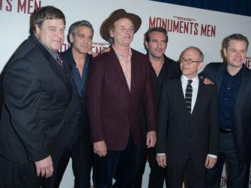 Los 'Monuments Men' en la premiere de París