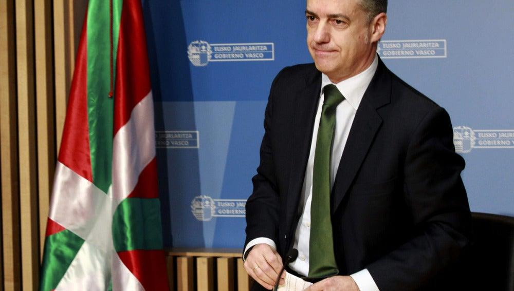 Iñigo Urkullu, en el Parlamento vasco