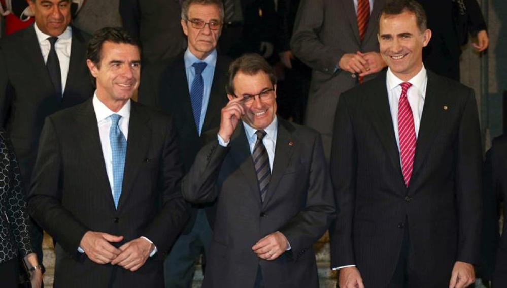 Soria, Artur Mas y el Príncipe Felipe