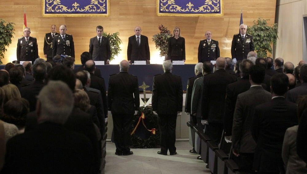 Fernández Díaz en el acto de promoción de comisarios