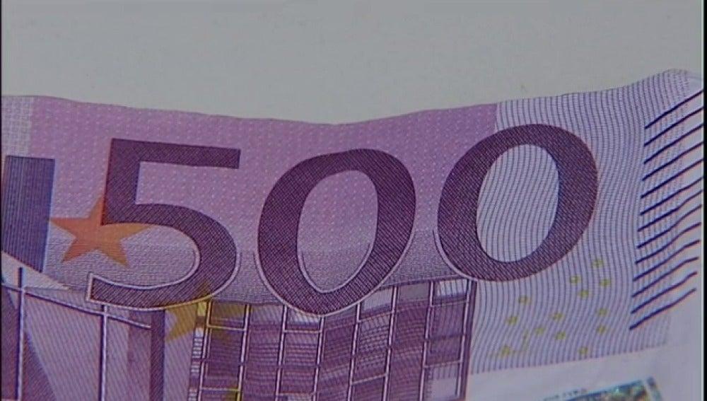 Cae el número de billetes de 500 euros en circulación a niveles de 2005