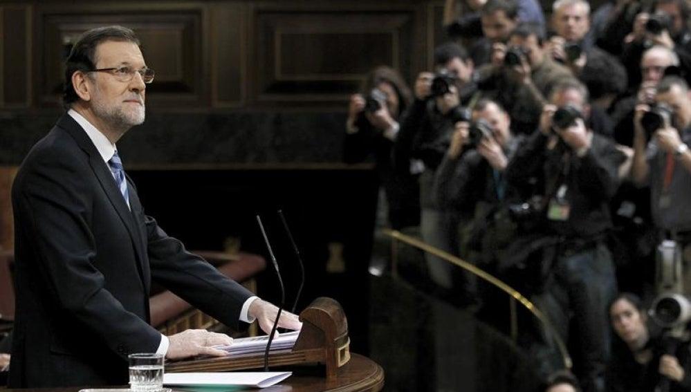 El presidente del Gobierno, Mariano Rajoy, en el debate sobre el estado de la nación.