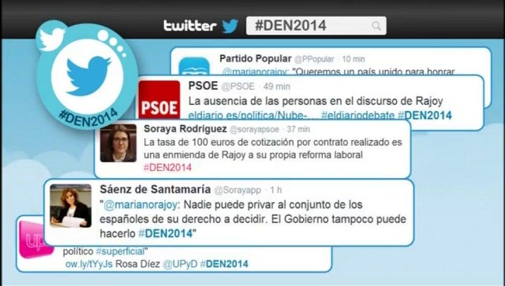 El debate en Twitter