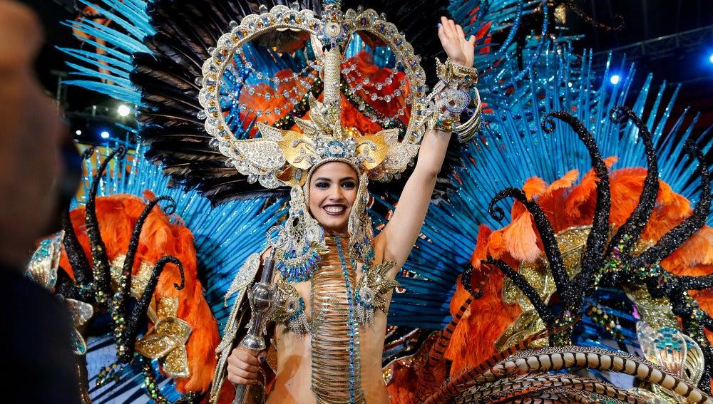 La nueva reina del Carnaval de Tenerife