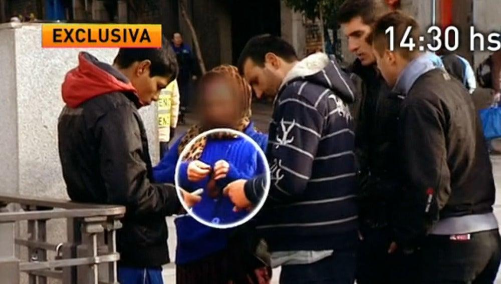 Un grupo de mendigos rumanos