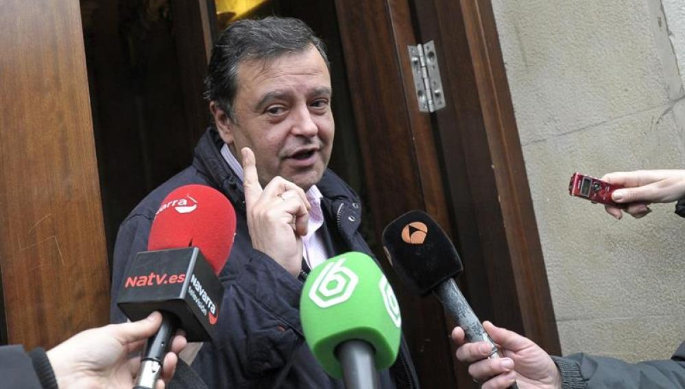 El portavoz del PSN, Juan José Lizarbe