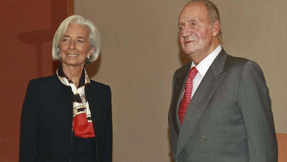 El Rey Juan Carlos recibe en audiencia a la directora gerente del Fondo Monetario Internacional (FMI), Christine Lagarde