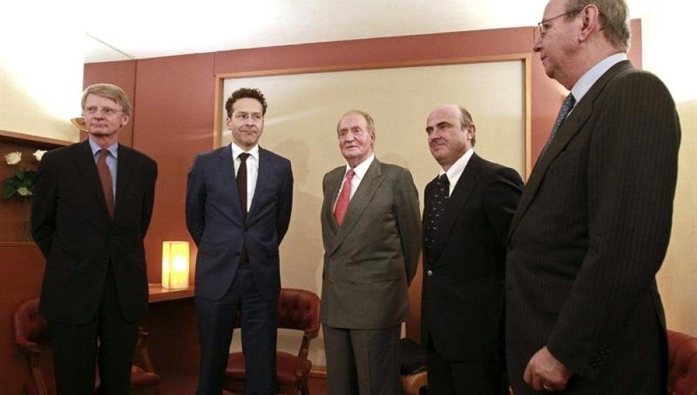 El Rey Juan Carlos en el Foro Económico Global de Bilbao.