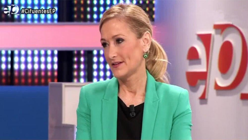 Cristina Cifuentes en Espejo Público.