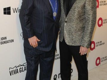Elton John en su fiesta post ceremonia junto a su marido David Furnish