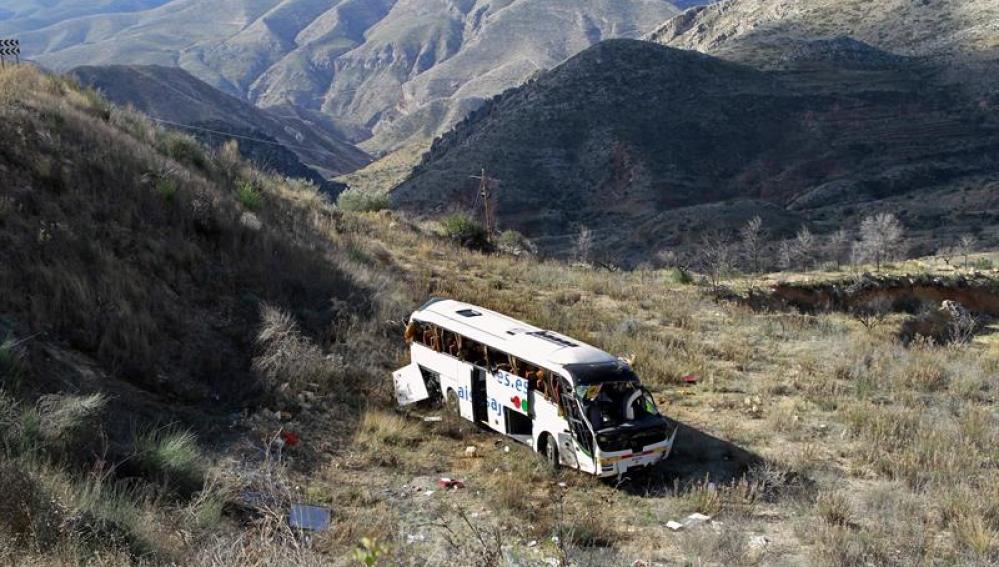 El autobús se dirigía al instituto de Buñol
