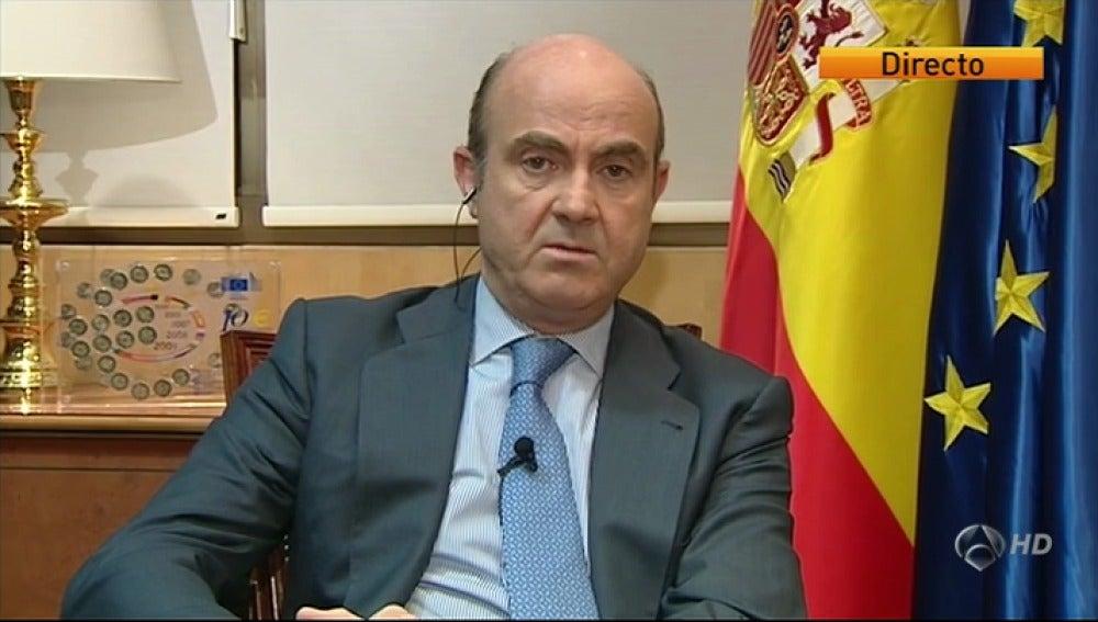Entrevista a Luis de Guindos en Antena 3