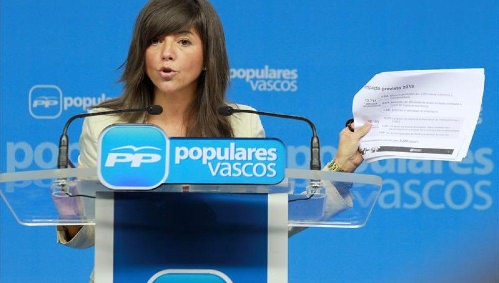 Quiroga elige a la parlamentaria Nerea Llanos secretaria general del PP vasco