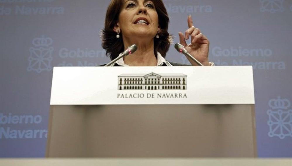 La presidente del Gobierno de Navarra, Yolanda Barcina.