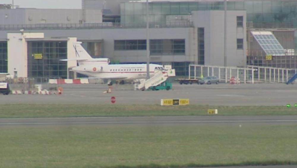 Avión del Gobierno en el aeropeurto de Barajas