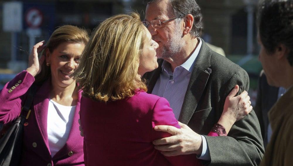 Rajoy y Arantza Quiroga