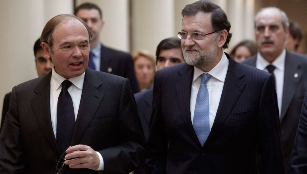 Rajoy junto a Pío García Escudero