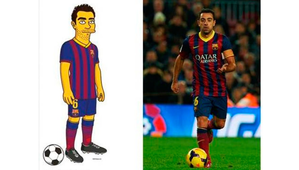 Xavi Hernández 'Simpsonizado'