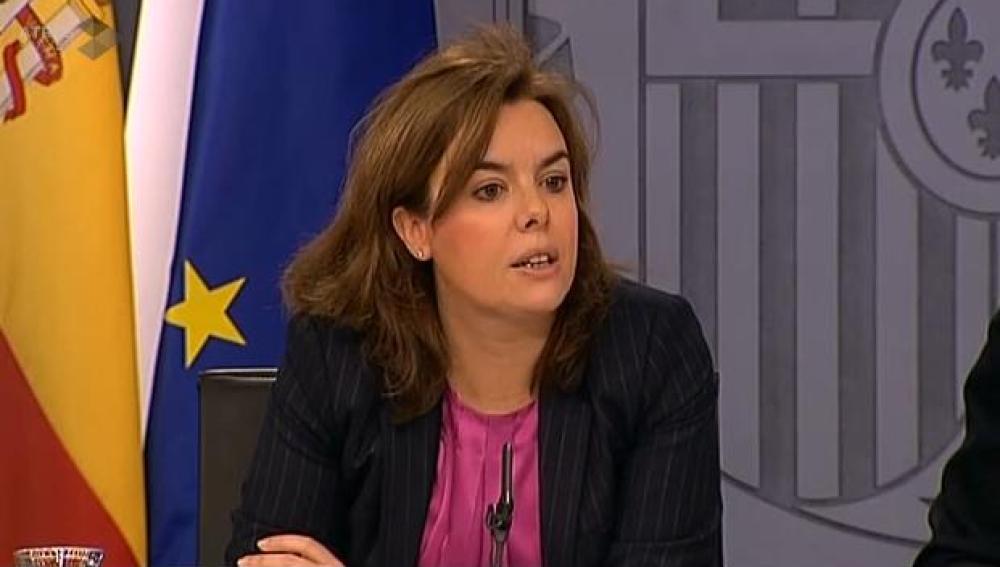 Soraya Sánez de Santamaría tras el Consejo
