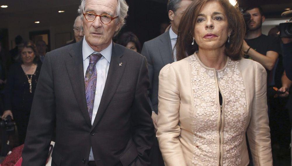 El alcalde de Barcelona, Xavier Trías, junto a la alcaldesa de Madrid, Ana Botella