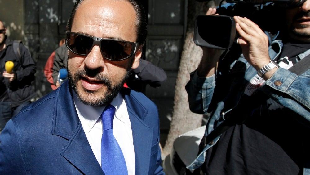 'El Bigotes' a su llegada al juzgado